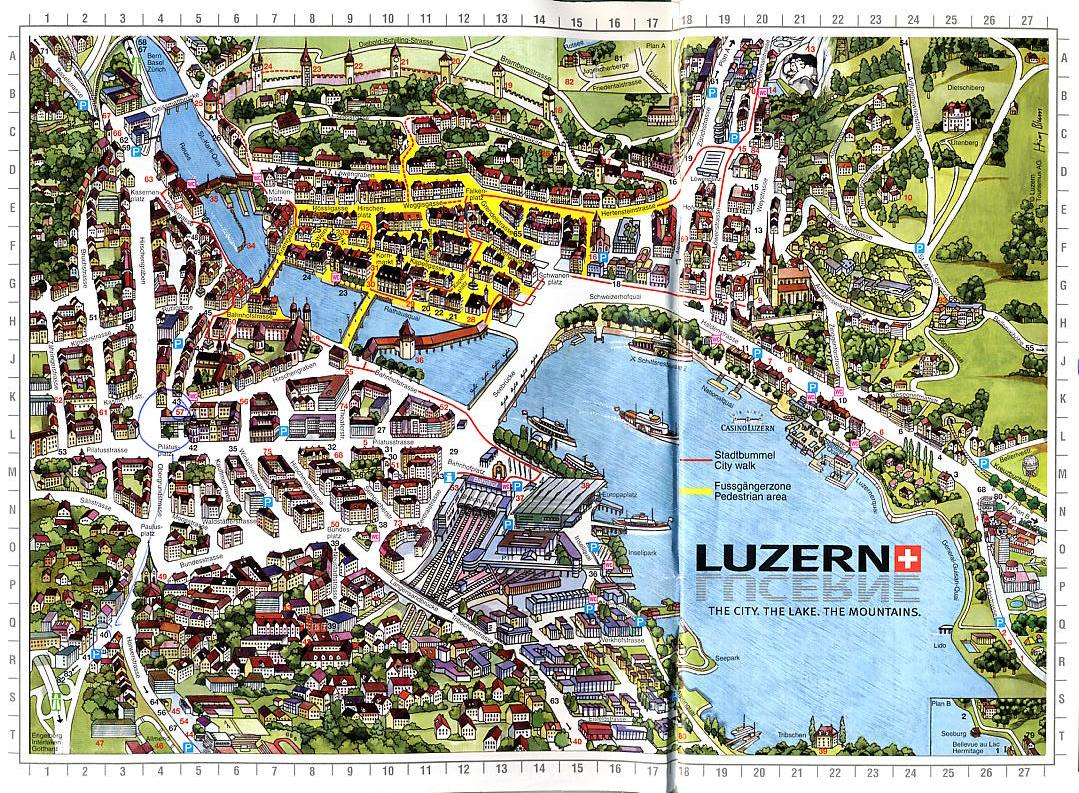 Day 15 Lucerne – Lucerne Tourist Map