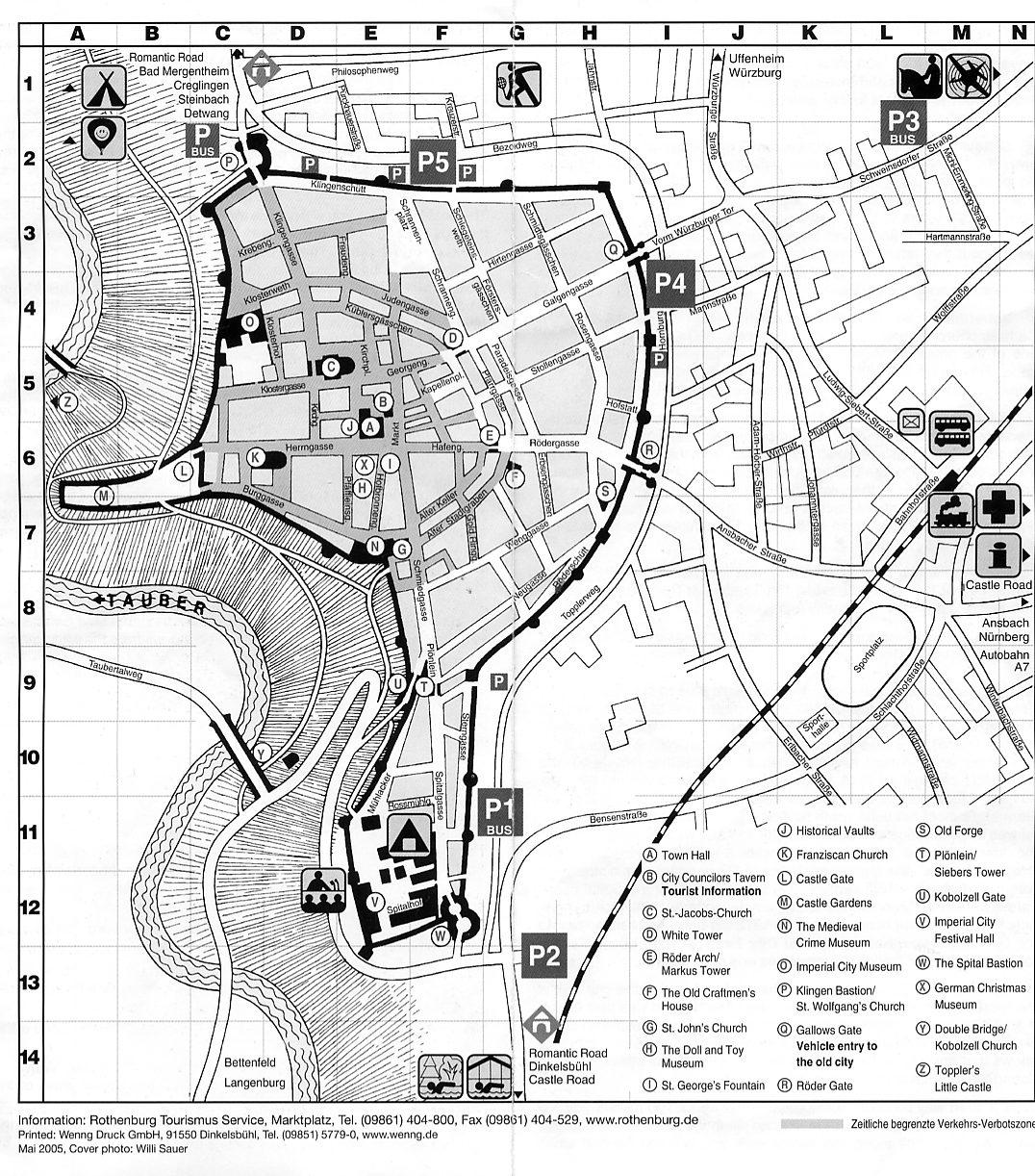 Day 18 Nurnberg – Map Rothenburg Germany